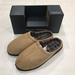 New Perry Ellis Mens Tan slippers/clog/ loafers